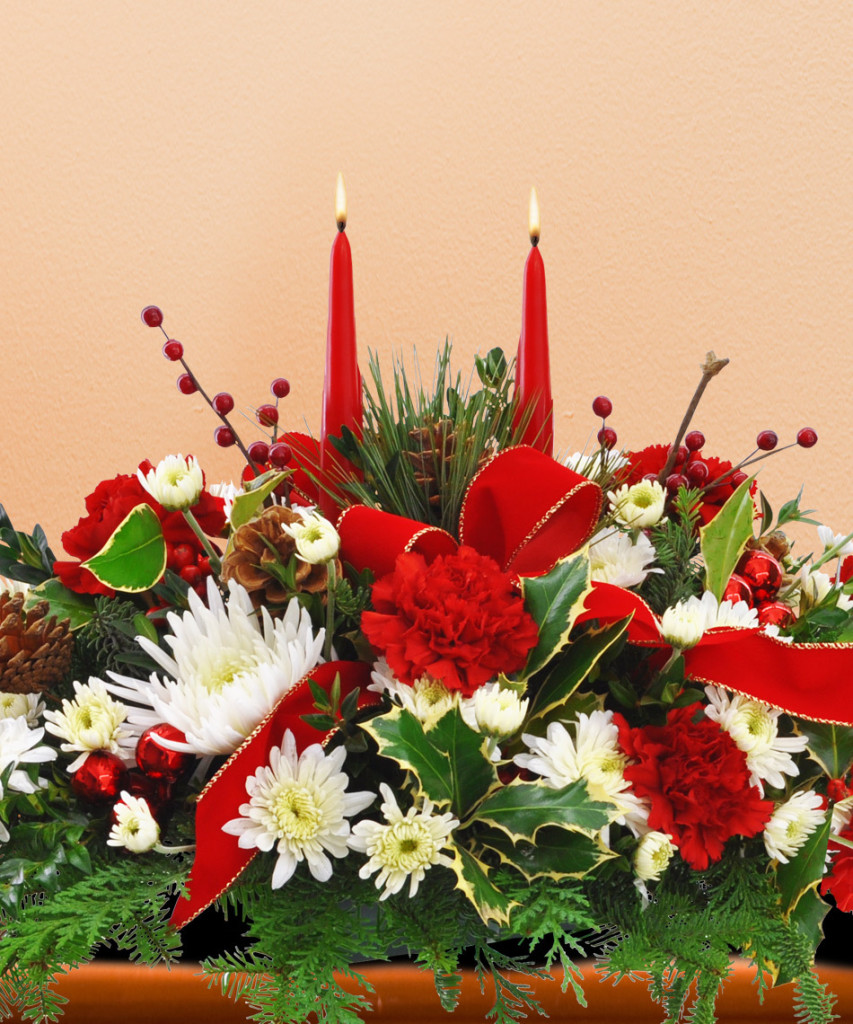 A Merry Christmas Centerpiece by Phoenix Flower Shops