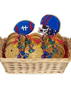 Football Themed Cookie Basket by Flower Shops of Phoenix